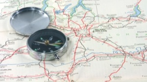 find milan travel concepts map and compass